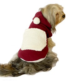 Cream Bordo Kapşonlu Sweat by Kemique Köpek Kazağı